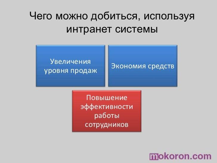 Чего можно добиться, используя интранет системы<br />