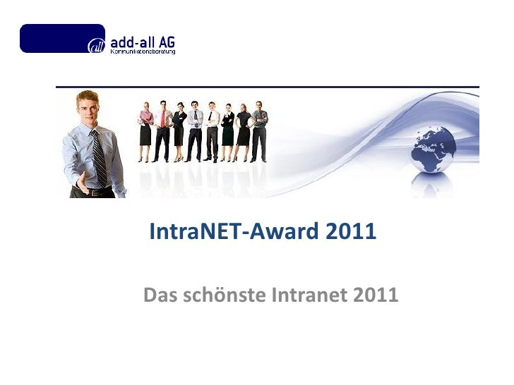 IntraNET-Award 2011Das schönste Intranet 2011