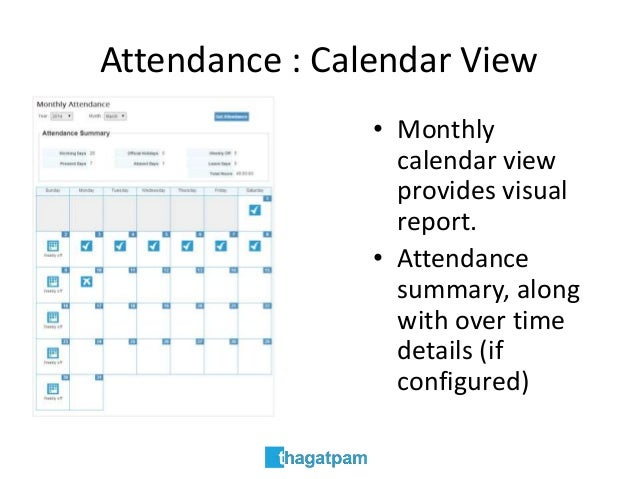 attendance calendar view monthly