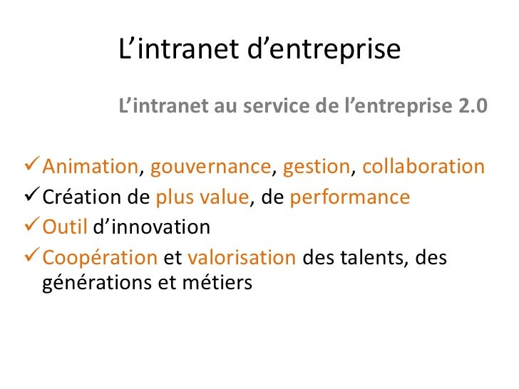 Intranet 2 0 quelques id es for Idee innovation entreprise
