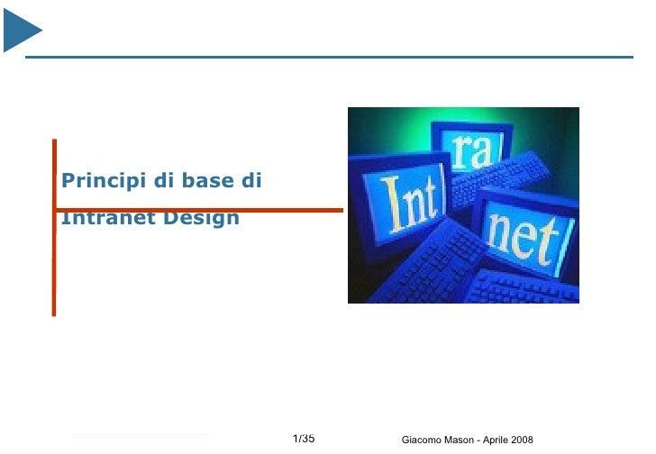 Principi di base di Intranet Design