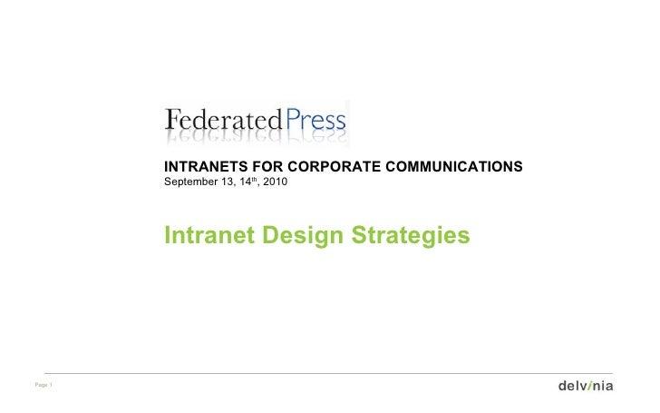 Intranet Design Strategies