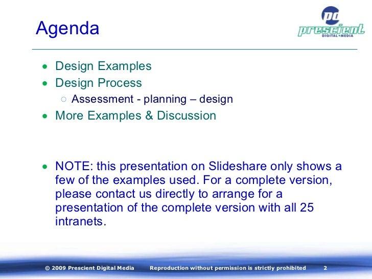 Intranet Design – A Business Approach to a Winning Design Slide 2