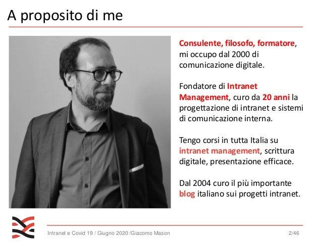[Intranet management] intranet, covid 19 e remote working - che cosa abbiamo capito Slide 2