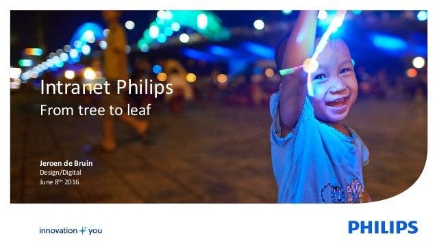 1 Intranet Philips From tree to leaf Jeroen de Bruin Design/Digital June 8th 2016