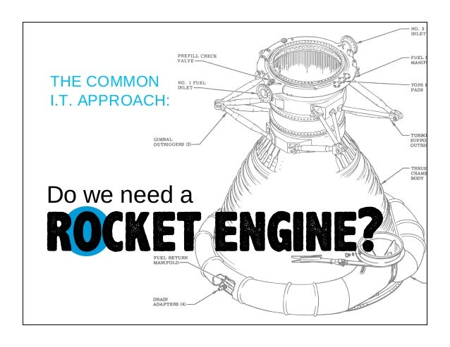 THE COMMON I.T. APPROACH:  Do we need a  rocket engine?