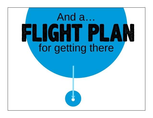 And a…  FLIGHT PLAN for getting there