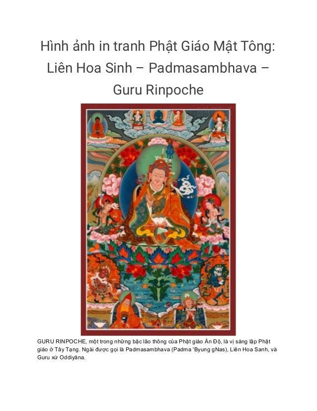 Hình ảnh in tranh Phật Giáo Mật Tông: Liên Hoa Sinh – Padmasambhava – Guru Rinpoche GURU RINPOCHE, một trong những bậc ...