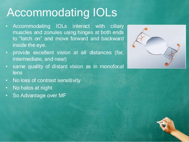 Accommodating iols types of triangles