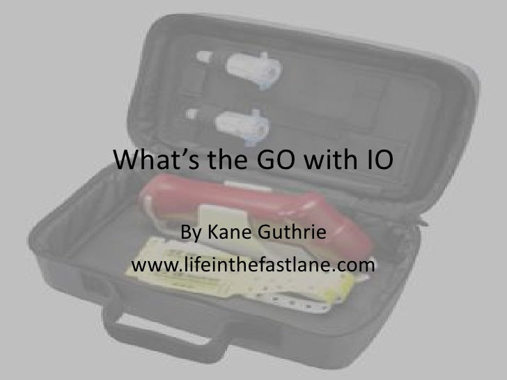 What's the GO with IO<br />By Kane Guthrie<br />www.lifeinthefastlane.com<br />