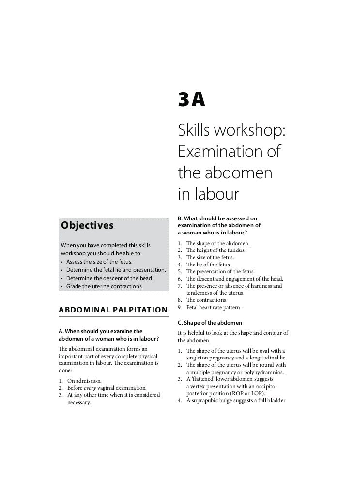 3A                                               Skills workshop:                                               Examinatio...