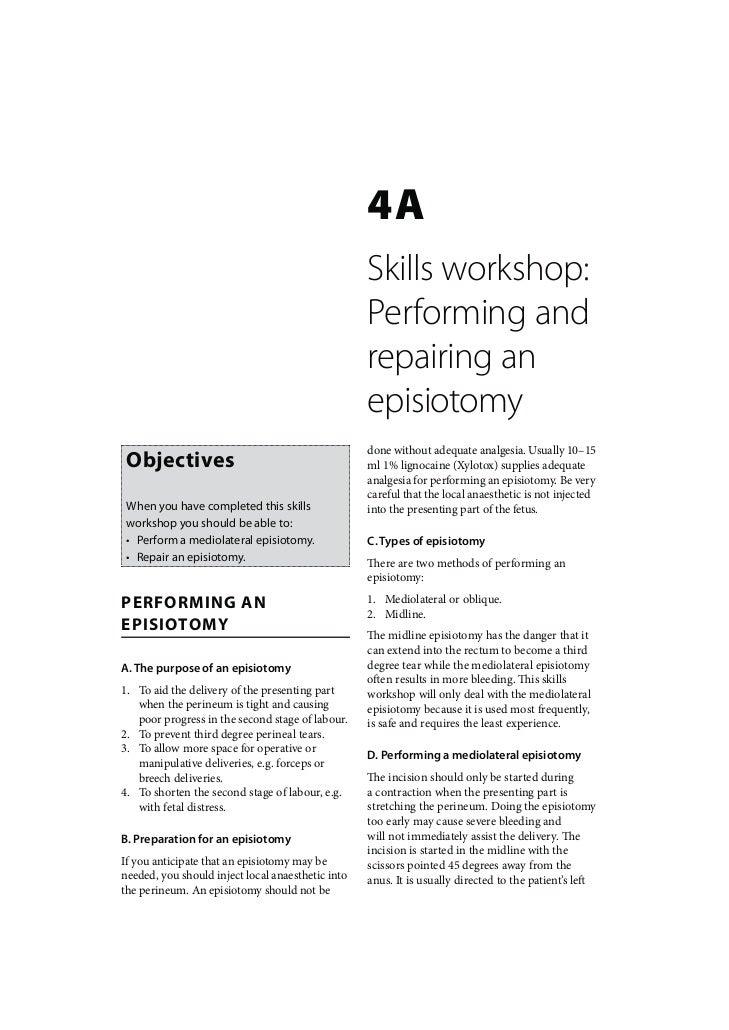 4A                                                   Skills workshop:                                                   Pe...