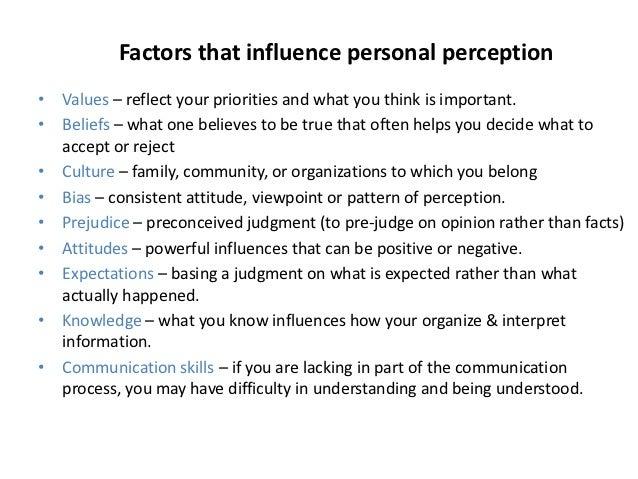 Interpersonal communication perception essay