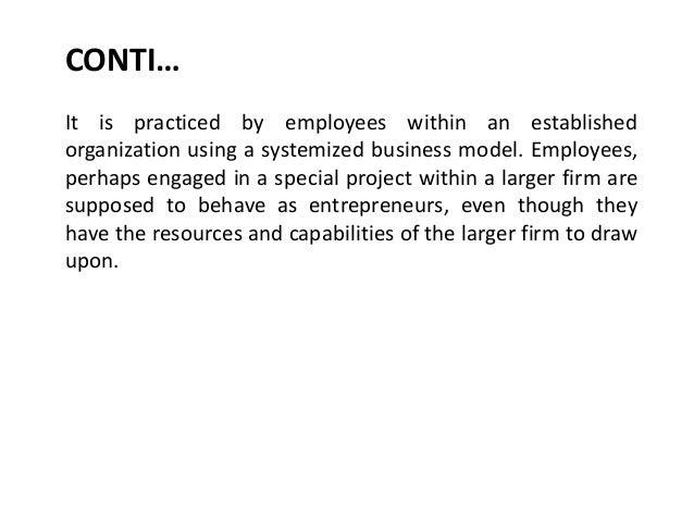 Intrapreneurship Slide 3