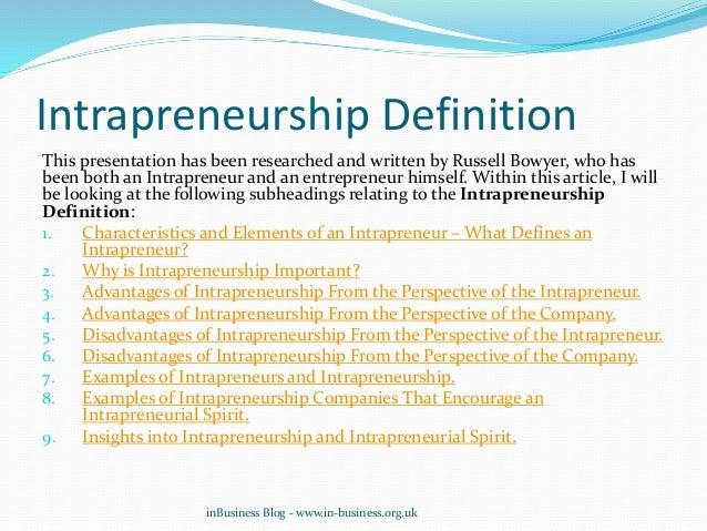 characteristics of an intrapreneur pdf