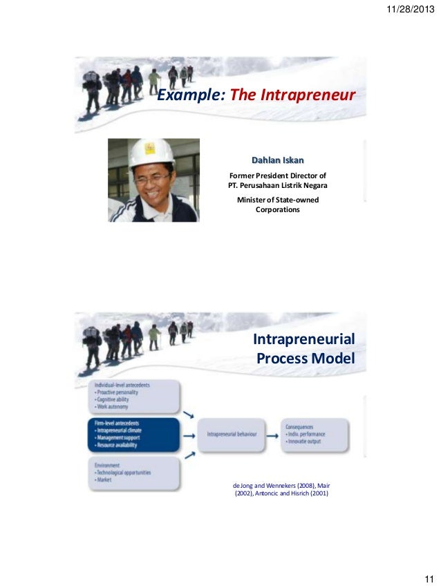 intrapreneurial process Chapter 6 answers - business 101 study  a top-level manager who approves of and supports a project in the intrapreneurial process is known as _____ a.