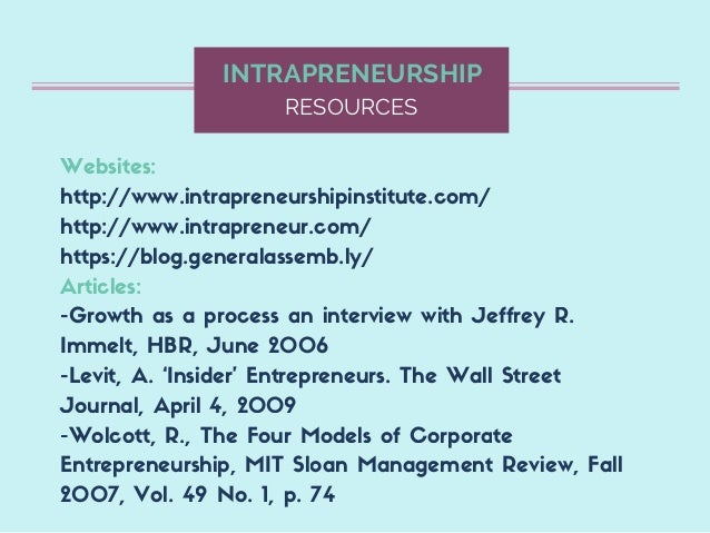 the need for the corporate intrapreneurship 3 essential elements of an intrapreneurship programme  many employees already have the passion and dedication but need a sustainable  pitching and corporate.