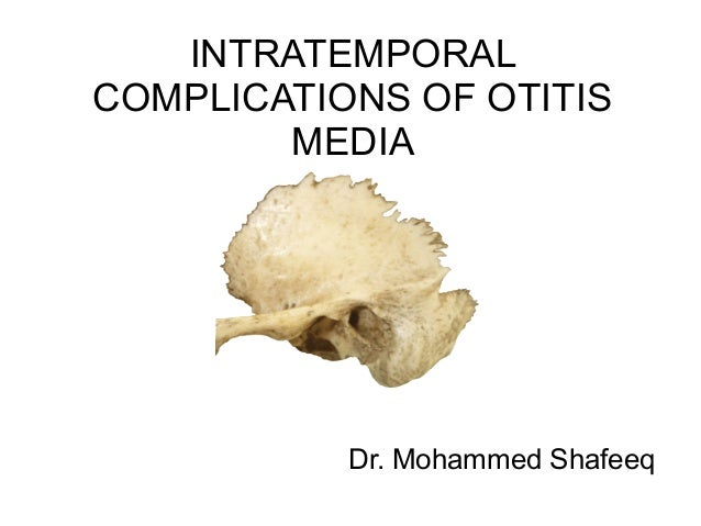 INTRATEMPORAL COMPLICATIONS OF OTITIS MEDIA Dr. Mohammed Shafeeq