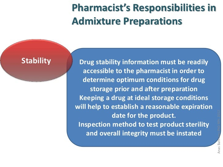 Hospital Pharmacy Lecture Four – Responsibility of a Pharmacist