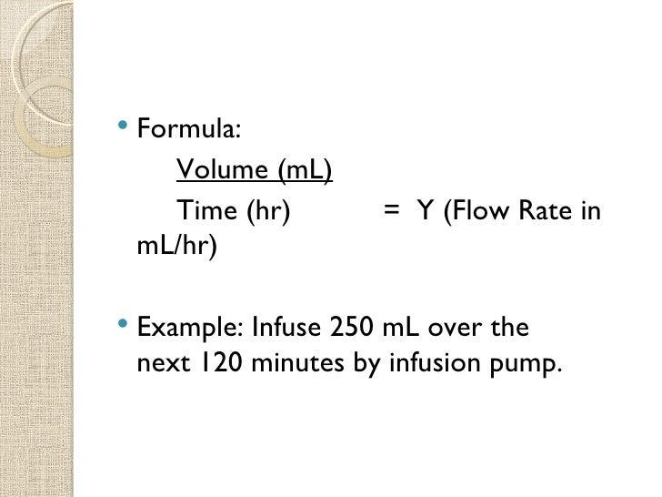 Intravenous Fluid Computations