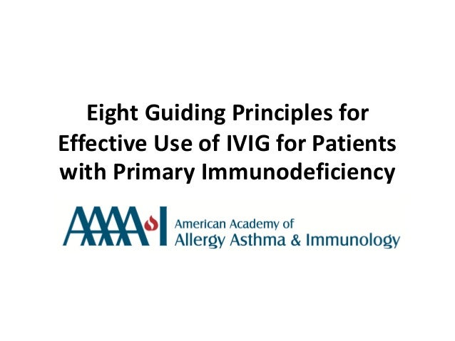 Intravenous immunoglobulin for patients with primary