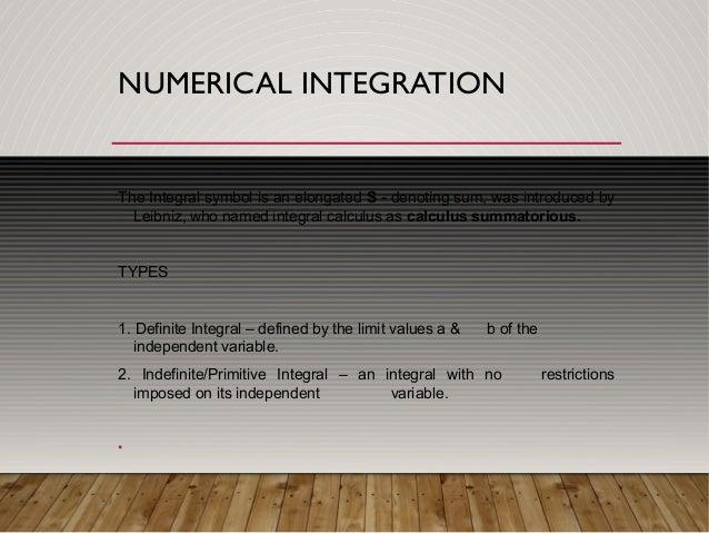 Numerical Intregation