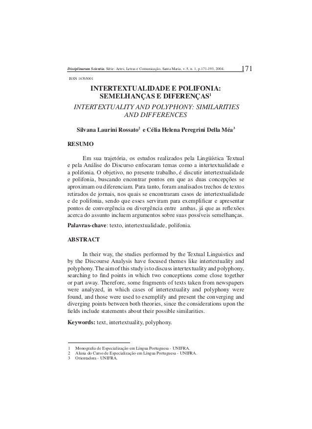 Disciplinarum Scientia.  Série:  Artes,  LeLras e Comunicação,  Santa Maria,  v.  S,  n.  1, p.  171-193, 2004.  1  ISSN 1...