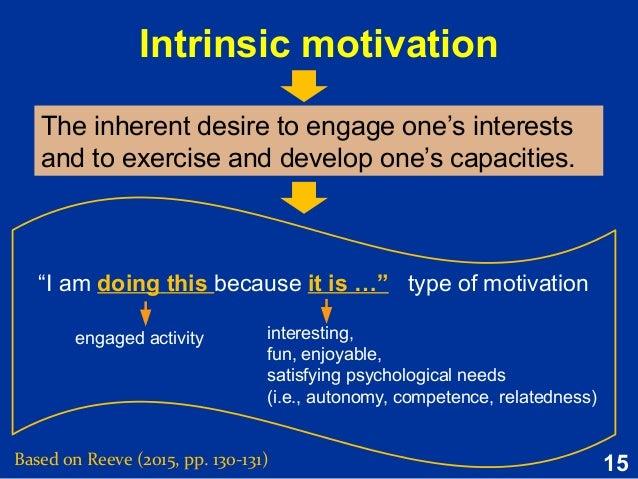 developing intrinsic motivation