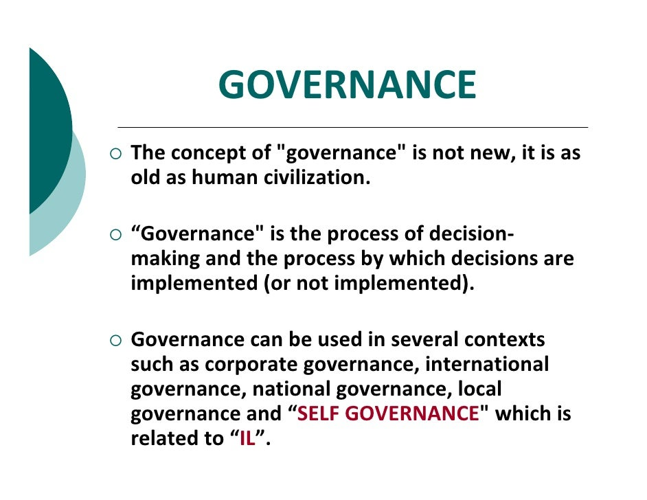 good leadership and good governance of 8 good governance principles - for leaders and institutions 1 accountable public officials must be answerable for government behaviour, and be responsive 2.