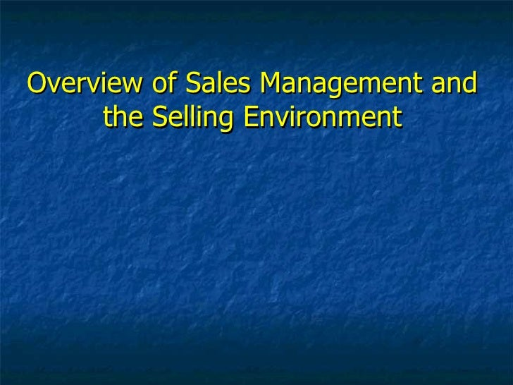 intro to sales management Inventory management is all about having the right  small business inventory management introduction to  many items you want to allocate to individual sales.