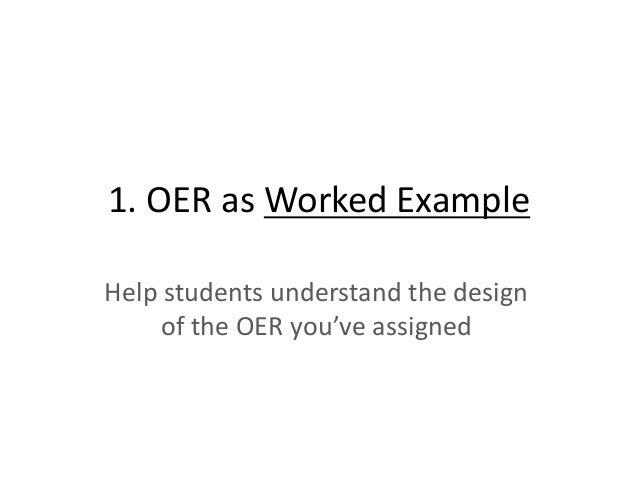 OER + Analytics Continuous improvement