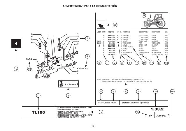 catalogo tl new holland intro rh slideshare net new holland tl 100 repair manual new holland tl 100 specifications