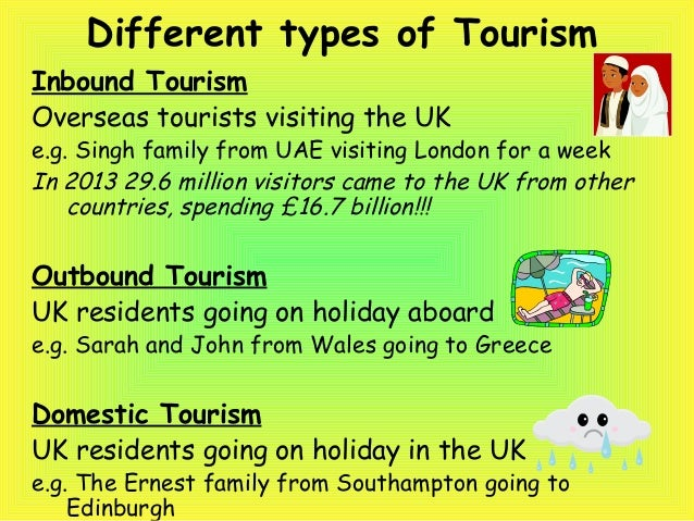 types of tourism Get the latest and most up-to-date tourism statistics for all the countries and regions around the world data on inbound, domestic and outbound tourism is.