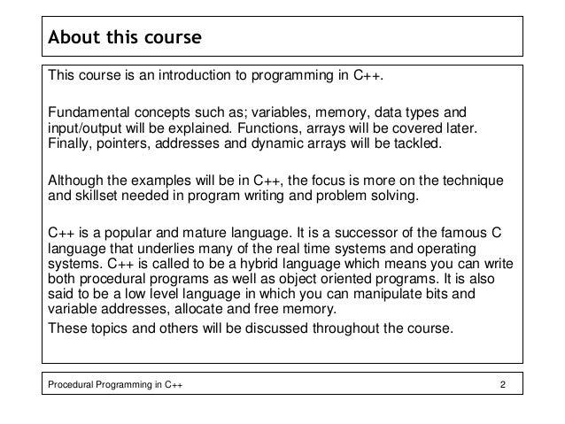 Intro. to prog. c++ Slide 2