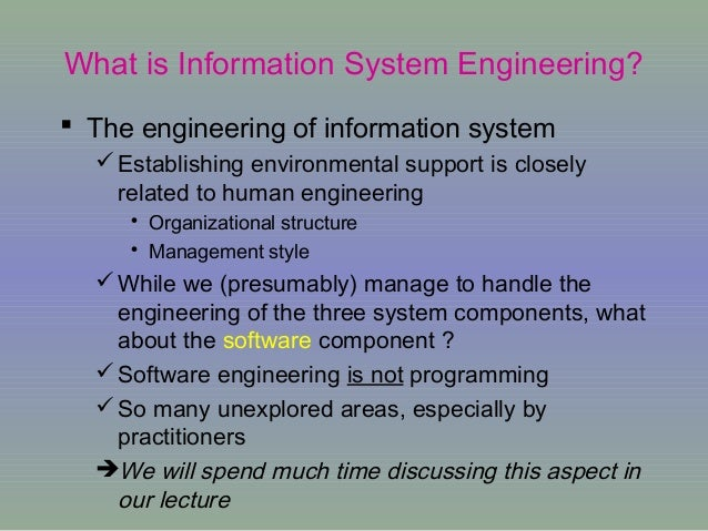information system engineering System-development life cycle enables users to transform a newly-developed project into an operational one seven phases of the sdlc: planning, analysis.