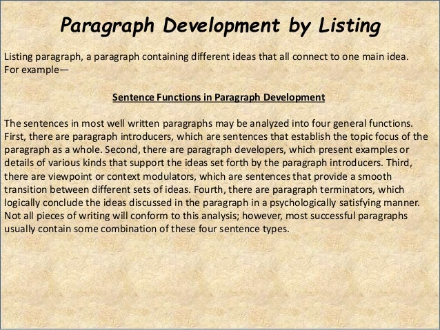 basic principles of paragraph development Sets out key principles in understanding viability in plan making and decision  taking  plans should set out the contributions expected from development this  should  paragraph: 001 reference id: 10-001-20180724.