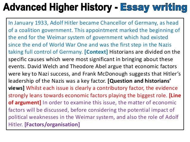 history essay intro
