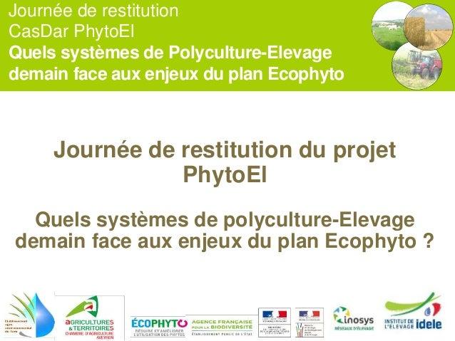 Journée de restitution CasDar PhytoEl Quels systèmes de Polyculture-Elevage demain face aux enjeux du plan Ecophyto Journé...