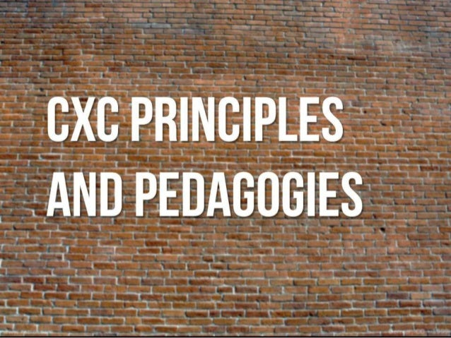 Intro to CxC Principles and Pedagogy