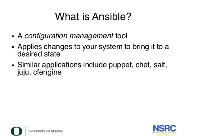 Configuration Management in Ansible