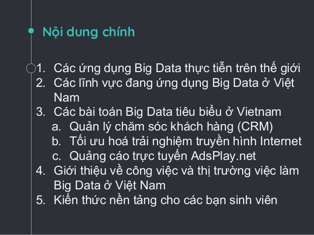 Giới thiệu cơ bản về Big Data và các ứng dụng thực tiễn Slide 2
