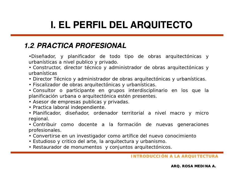 Introducci n a la arquitectura for Arquitectura carrera profesional
