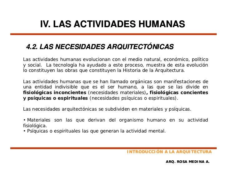 Introduccion a la arquitectura for Ejemplo de programa de necesidades arquitectura