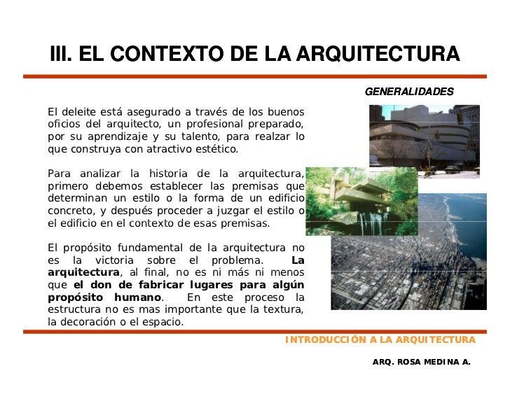 Introduccion a la arquitectura for Investigar sobre la arquitectura