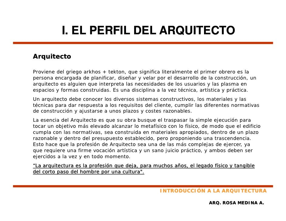 Principios de arquitectura Porque la arquitectura es tecnica