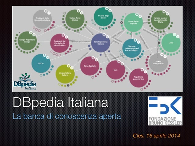 Text DBpedia Italiana La banca di conoscenza aperta Cles, 16 aprile 2014