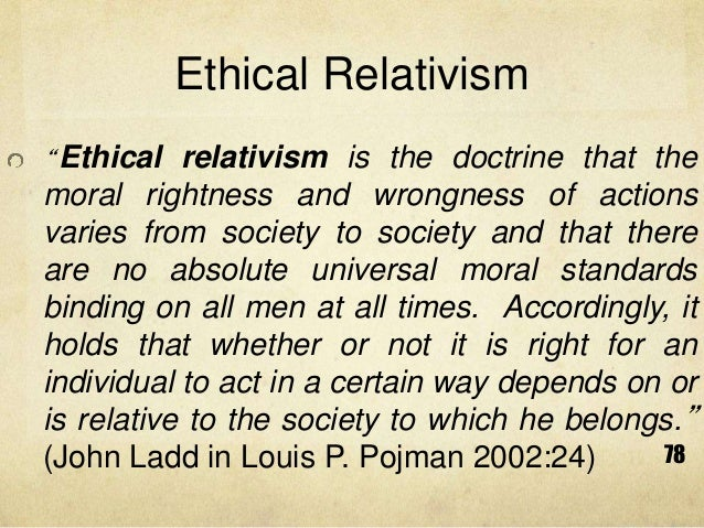 Against moral relativism essays