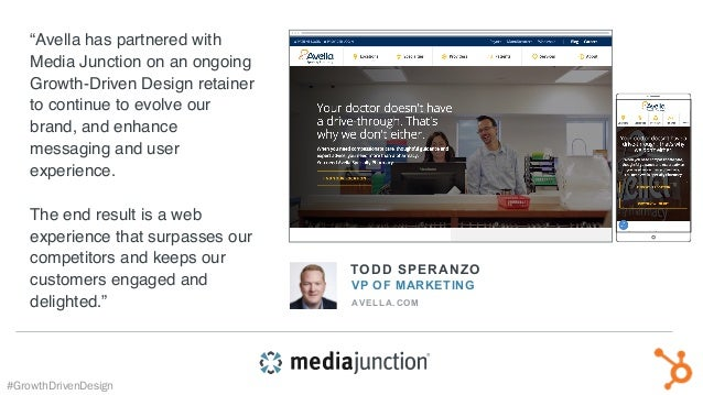 """TODD SPERANZO VP OF MARKETING AVELLA.COM """"Avella has partnered with Media Junction on an ongoing Growth-Driven Design reta..."""