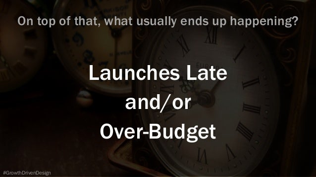 Launches Late and/or Over-Budget #GrowthDrivenDesign On top of that, what usually ends up happening?