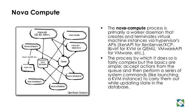 Nova Compute                                                                                  The nova-compute process is...